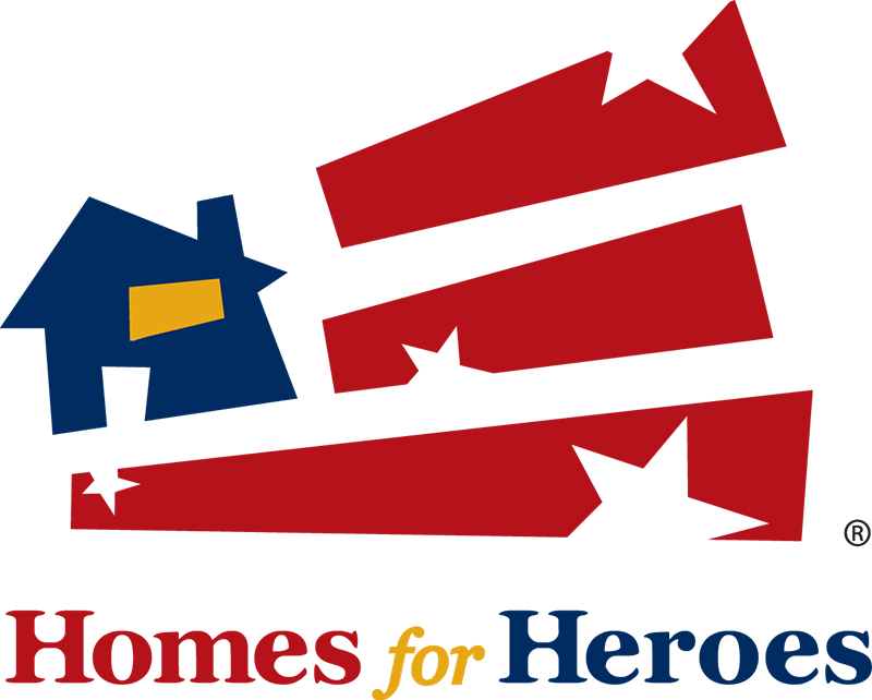 Homes for Heroes spelt out with a flag